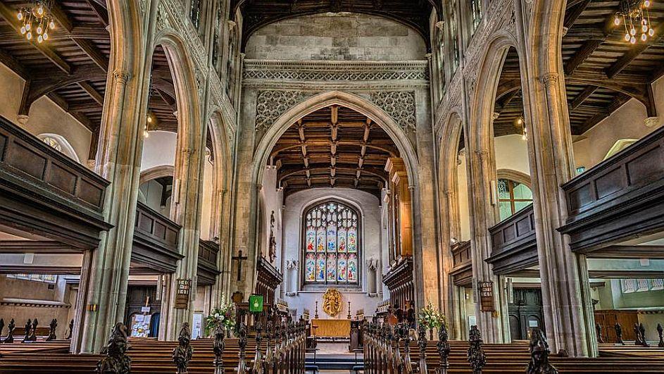 interior Great St Mary's Cambridge