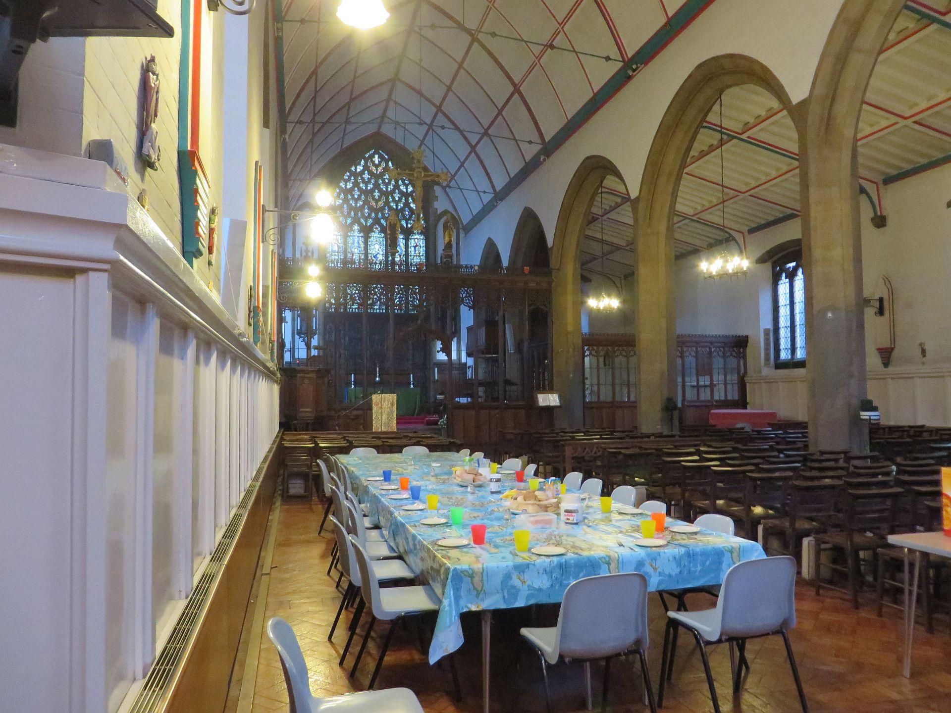 eten in de kerk
